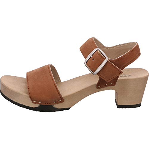 Softclox S3380 KEA Nature Nappa - Damen Schuhe Sandaletten - 27-Cognac, Größe:38 EU