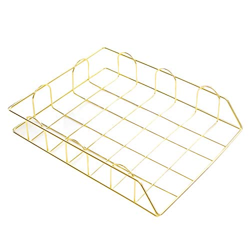 Zebery Tier Storage File Rack Document Letter Binders Stationery Sundries Mail Iron Holders Office Business Stackable Metal