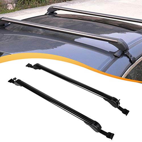 "FINDAUTO 2pcs 43.3"" Crossbars fit for 2001-2016 Kia Optima/Sorento,2010-2016 Kia Soul,2004-2006 Lexus RX330 OE Style Top Rail Roof Rack Aero Aluminum Cross Bars Luggage Rack Rail"