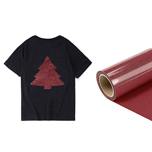 Find Bargain Lykmera Gliter Heat Transfer Vinyl Sheet 10 inch x 10 Ft Glitter Roll, DIY Printed T-Shirt at Home, HTV Bundle, Shiny Iron On Vinyl for Cricut & Silhouette Cameo, Bonus Teflon for Heat Press Machine
