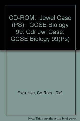 Cdr Jewel Case: GCSE Biology 1999 (Ps)