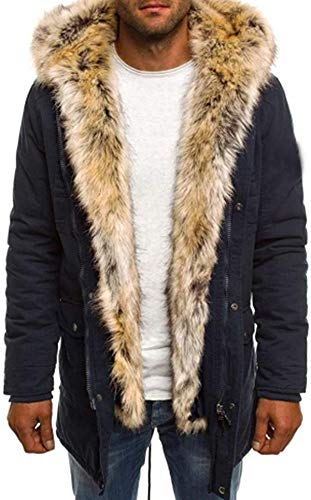 Bakugou Men's Windproof Down Cotton Coat Warm Jacket,Mens Thicken Cotton Parka Jacket Warm Coat Windbreaker Winter Fashionable