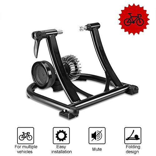 Fietsturbo standaard stalen fietsoefening, magnetische fietstrainer standaard stabiele vaste fietsstandaard, voor mountainbikes en racefietsen