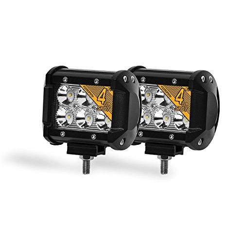 Eyourlife 4,2' 18W 2 Pezzi Spot Faro da Lavoro Luce di Profindità Faro Impermeabile Faro LED Luce Fendinebbia per 4WD SUV ATV UTV Camion Moto
