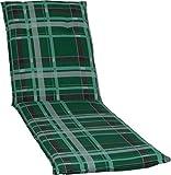 Beo Auflage Sitzkissen für Liegen in karo grün hellgrüne Streifen M900
