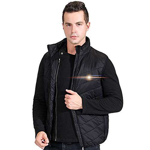 UTUZHE Heated Vest for Men by Power Bank Fishing Hunting Clothes for Men Outdoors Black