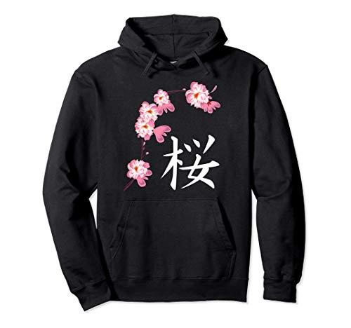 Festival de la Sakura Los cerezos en flor con Kanji japonés Sudadera con Capucha