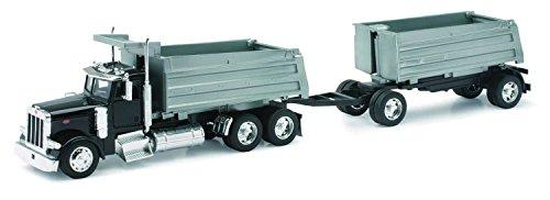 New Ray - 10573 - Véhicule Miniature - Die Cast Camion Double Benne Peterbilt Model 387