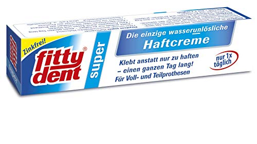 4 x FITTYDENT super Haftcreme 40 g Paste -