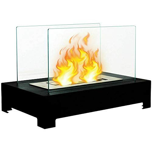 Fantastic Deal! Tabletop Ventless Bio Ethanol Fireplace Stainless Steel Pedestal Portable TkDirect