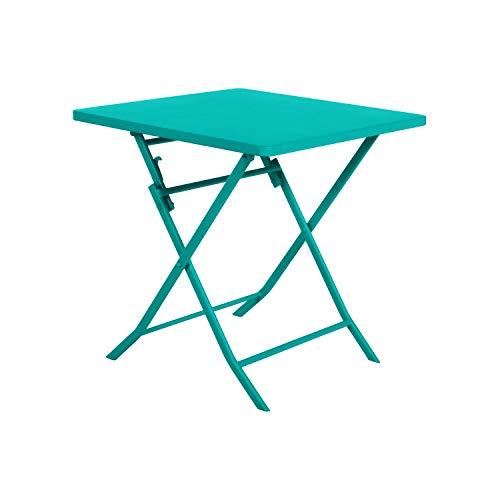 Tavolo da giardino 'Hesperide', quadrato, 70 x 70 cm, colore: smeraldo
