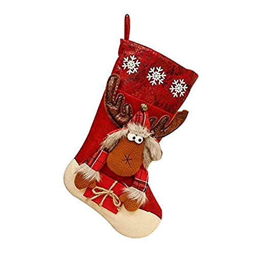 zdfbhkm Christmas Socks Game Decorations, Personalized Christmas Snowman Reindeer Christmas Socks Gift Bag, Used for House Decoration Candy Bag A