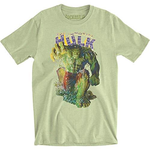 O Incrível Hulk Immortal Hulk Coming at You Camiseta de jérsei ajustada para adultos, Verde, S