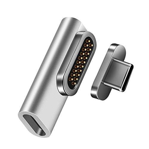 XtremeMac® Adaptateur Magnétique de Type C, chargement rapide 100W et transfert de données 10 Gb/s pour MacBook, iPad et tout appareil USB-C