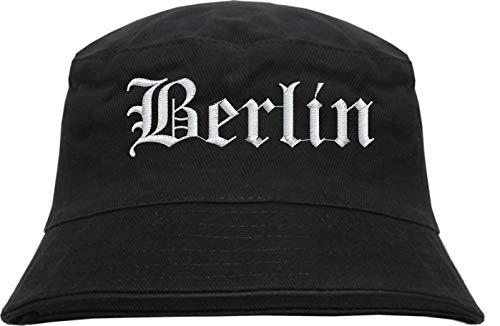 HB_Druck Berlin Fischerhut - Bucket Hat - Bestickt - Schwarz L/XL