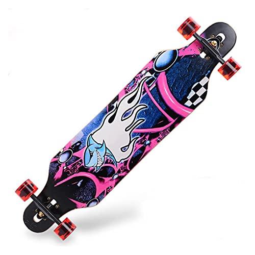 ZHINWEN Monopatín de Longboard, 41 Pulgadas Longboard Ma-ple Crui-ser Board Skateboard Skate Board Complete ga-laxy (Color : S18)