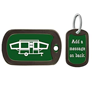 Pop Up Camper Key Chain, Birthday Gift, Camping Accessory