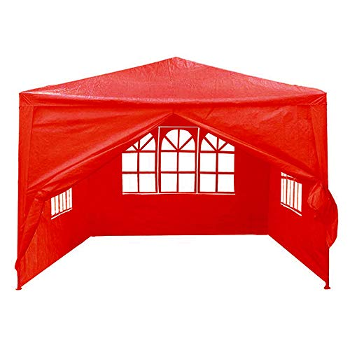 Family Camping Tent 3mx3m 4 Side Walls Cover Outdoor Traveling Camping Tent Sunshade 2 Colors for Hiking Camping Outdoor (Color : Red, Size : 3x3m)
