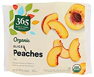 365 by Whole Foods Market, Frozen Organic Fruit, Peaches - Sliced, 10 Ounce