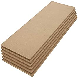 Bright Creations MDF Board, Chipboard Sheets for Crafts (5 x 15 in, 6-Pack)