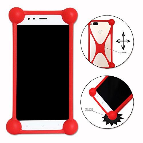 Coque Bumper Rouge Antichoc pour Ulefone S8 Pro en Silicone de Qualité