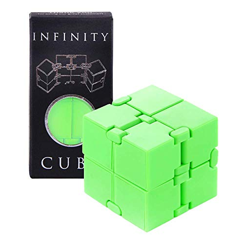 Infinity Fidget Cube Mind Puzzle Toy for Kids and Adults, Sensory Stress and Anxiety Relief Brain Teasers for Hand and Wrist for Small Boys and Girls, Perfect Get Well Soon Game and Desk Game Gadget