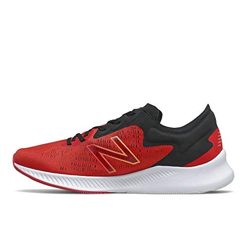 New Balance Men's Dynasoft Pesu V1 Running Shoe, Team Red/Ghost Pepper/Habanero, 8