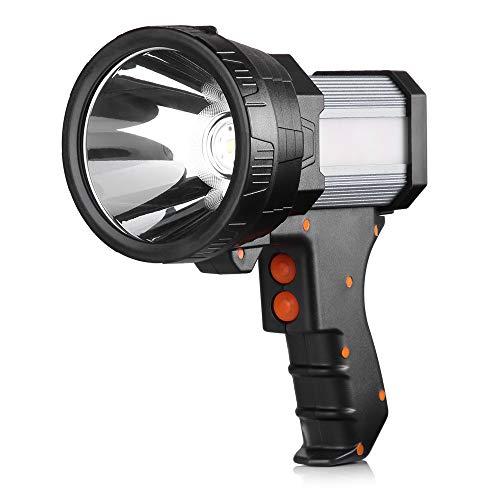 BUYSIGHT Rechargeable spotlight,Spot lights hand held large flashlight 6000 lumens handheld spotlight Lightweight and Super bright flashlight Outdoor spotlight flashlight