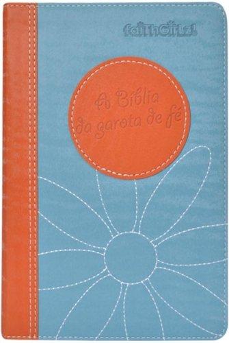 A Bíblia da Garota de Fé. NTLH. Laranja e Azul