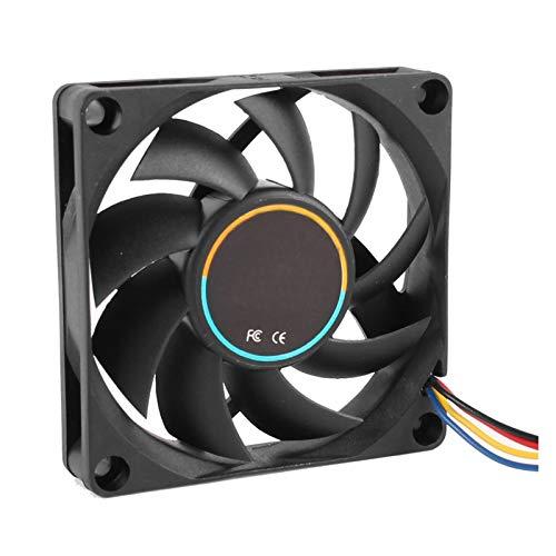 NINGXUE-MAOY 70x70x15mm 12V 4 Pin PWM PC Caja De Computadora CPU Refrigerador Fan De Enfriamiento Negro