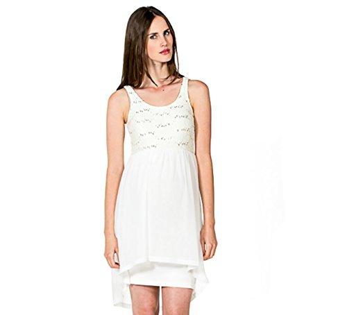 Kleid Viola Bezauberndes Umstands-Brautkleid Hochzeitskleid (S (34-36), Creme)