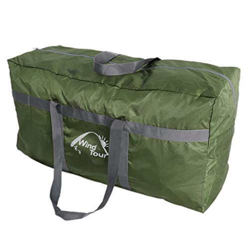 MagiDeal Large Tent Compression Storage Bag Duffel Bag 80x30x40cm for Camping Awning Canopy Tarp Shelter Organizer Holder Outdoor Sports - Green