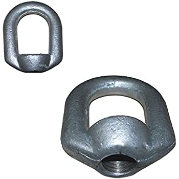 MH GLOBAL Eye Nut Tap Thread Drop Forged Carbon Steel 1,250-lbs 5//16 Bail 3//8 10 PCS