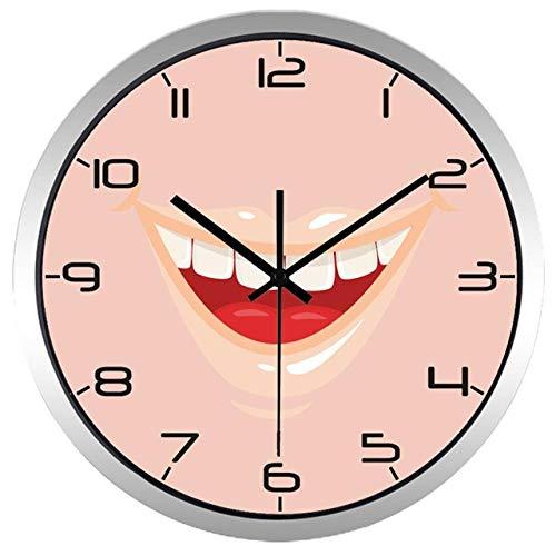 Reloj de Pared Hombres Y Mujeres Estilo Moderno Clínica Dental Sonrisa Boca Reloj De Pared Reloj DeDiente De Cuarzo 14 Pulgadas B278
