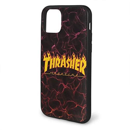 Compatible with iPhone 11 /Pro/Max Case,Thra-sh-er Flame Logo Soft Non-Slip TPU Protective Phone Case Cover