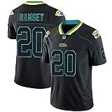 T-shirt de rugby Jalen Ramsey Jaguars 20#, maillot de football américain brodé pour homme, t-shirt sportif à manches courtes, sweat-shirt respirant pour fans d'entraînement unisexe