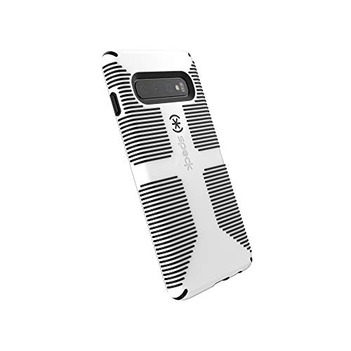 Speck Products CandyShell Grip Samsung Galaxy S10 Case, White/Black