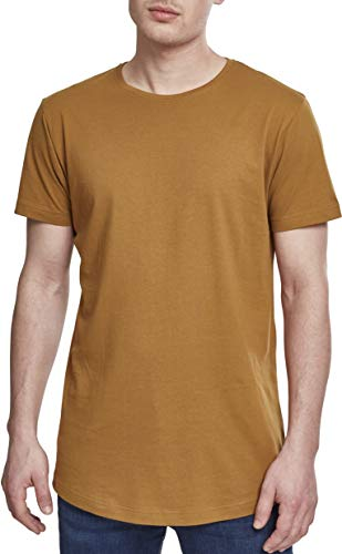 Urban Classics Shaped Long tee Camiseta, Marrón (Nut), XL para Hombre