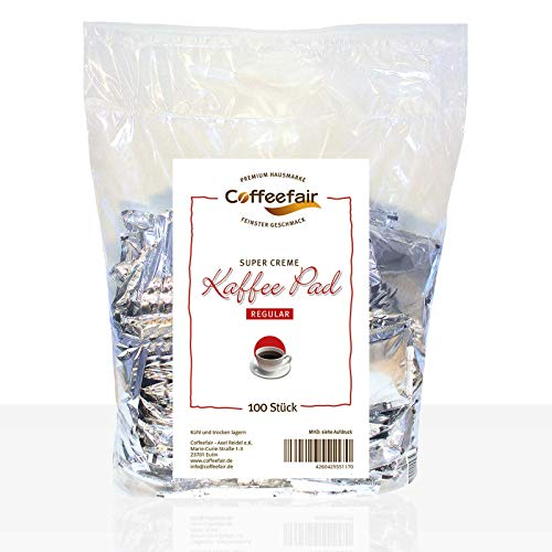 Coffeefair Kaffee-Pads Supercreme Regular 100 Stück   Megabeutel
