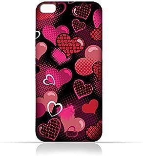 AMC Design Lava Iris 870 TPU Silicone Case With Valentine Hearts Seamless Pattern - Multi Color
