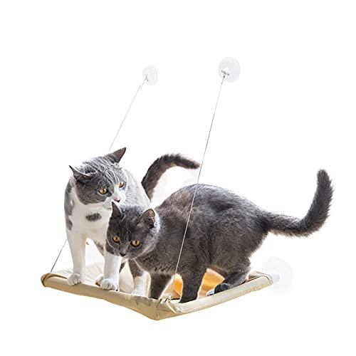 Cama Colgante para Gatos, Cama Gato Ventana Hamaca Gatos Ventana, Camas para ventanas con ventosa gatos Resistente al Desgaste y Mordeduras para Gatos Cama de Hamaca para Gatos Sostener hasta