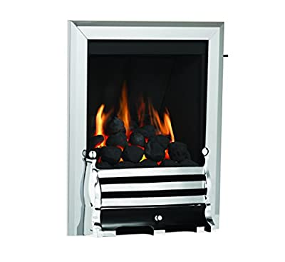 Be Modern Classic Maisie Multiflue Gas Inset Fire Chrome/Black