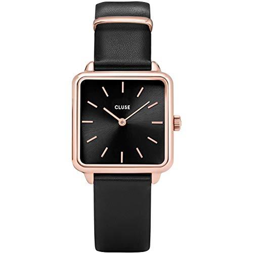 CLUSE Women's Quartz Watch with Leather Strap, Black, 16 (Model: CW0101207011)