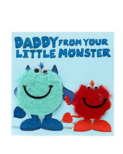 Papa Verjaardagskaart - Leuke Papa Verjaardagskaart te sturen van kinderen - Papa Verjaardagskaart van je Kleine Monster - Papa Verjaardagskaart - Cadeaukaart voor hem - Papa Verjaardagscadeaus