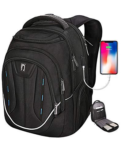Heendzoo Backpack for Men-TSA Large Water-Resistant Bags SBS Zipper School Bookbags USB/RFID/Travel Backpack Fits 15.6'Laptops Business Teens Daypack, Black