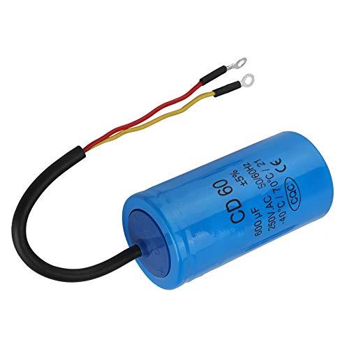 25/85/21, Condensador de arranque de motor confiable CD60 hecho de rodillo de película de plástico (azul)