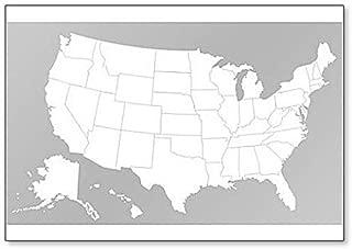United States of America Blank Map Fridge Magnet