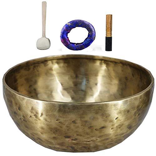 HYCy Cuenco Tibetano, Cuenco Tibetano, Cuenco Tibetano, Cuenco de meditación, 7 curaciones, Yoga, meditación, Terapia de Sonido y atención Plena (11 Pulgadas), XL, Hecho a Mano