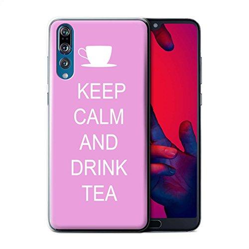 Stuff4® Phone Case/Cover/Skin/HUAGP-CC/Keep Calm Collection Huawei P20 Pro Thee drinken/roze