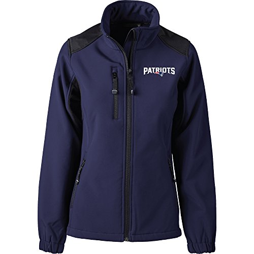 Dunbrooke Apparel NFL New England Patriots Women's Softshell Jacket, X-Large, Navy